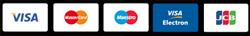Accepted Cards - Visa, MasterCard, JCB