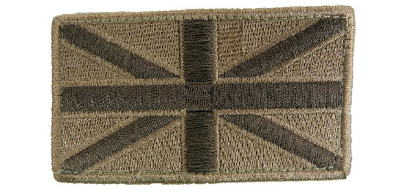 Viper Union Jack Patch (x2) Tan
