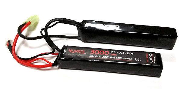 Nuprol 3000mah 7.4v 20c Lipo Nunchuck Type