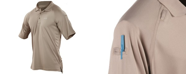 5.11 Performance Polo Shirt Silver Tan