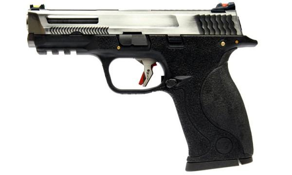 WE N&P XW40 E-Force Vented (Black) Silver Slide / Silver Barrel
