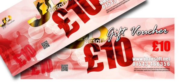 JD Airsoft Gift Voucher £10