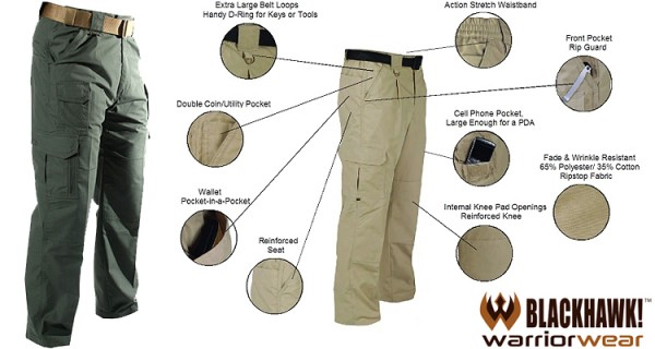 BlackHawk Warrior Wear Cotton Pants OD 40Wx32L