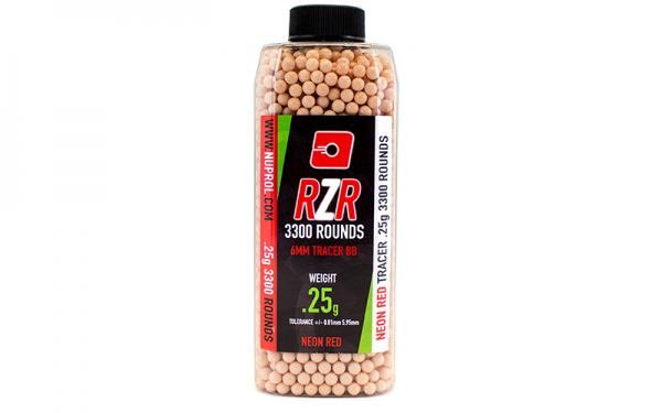 Nuprol RZR Tracer (Red) 3300rds 0.25g