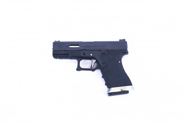 WE E-Force EU G19 Black (Black Slide / Silver Barrel)