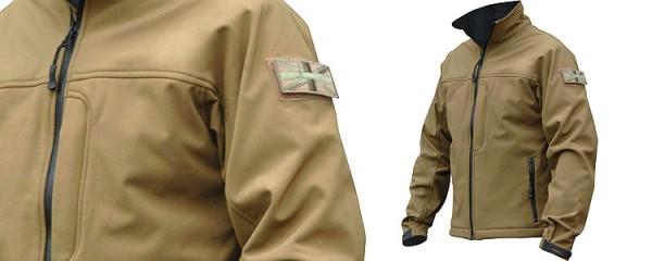 Highlander ODIN Softshell Jacket Tan Large