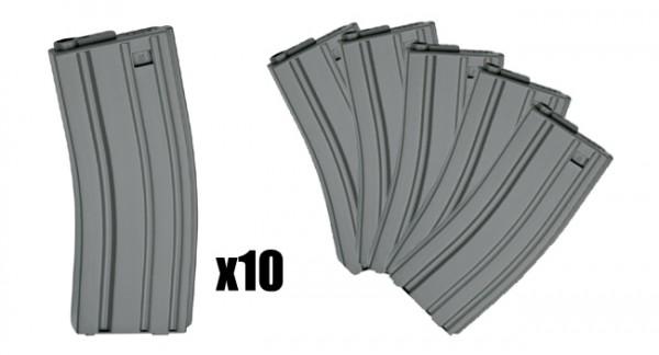 ASG M4/M16 85rd Box Set Of 10 (Grey)