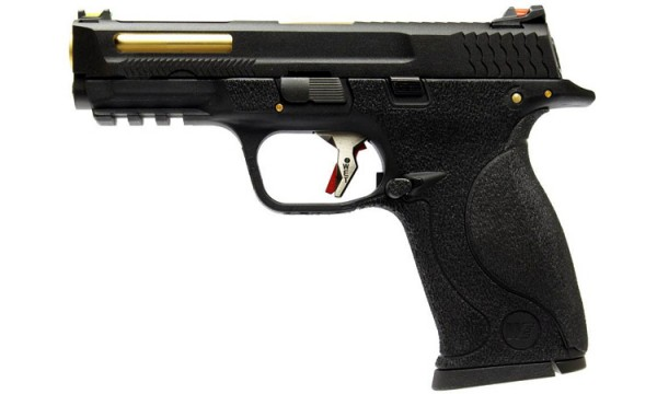 WE N&P XW40 E-Force Vented (Black) Black Slide / Gold Barrel