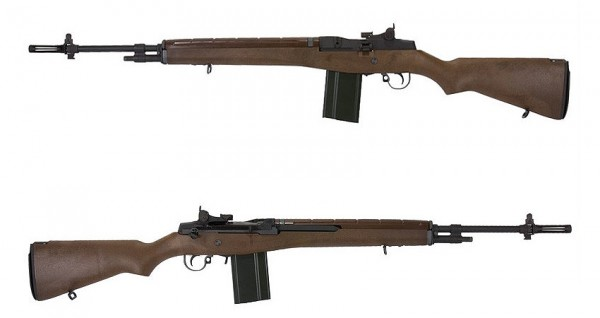 WE M14 Wood Black Edition GBB Rifle