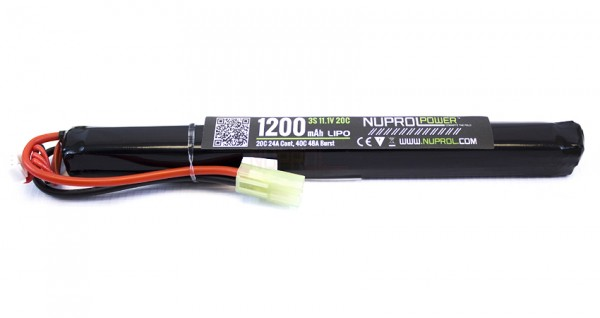 NP Power 11.1v 1200mAh 20C Lipo Stick Slim Type