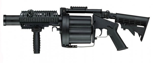 ICS MILKOR MGL Grenade Launcher Black (Long Version)