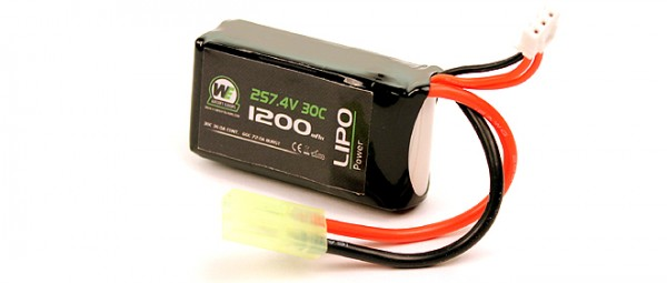 WE 7.4v 1200mAh 30C Lipo Battery for PEQ