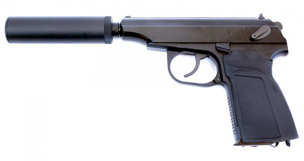 WE Makarov 654K with Silencer (Black)
