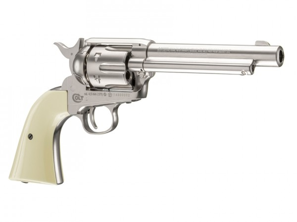 Colt Peacemaker SAA CO2 Revolver, Nickel .177