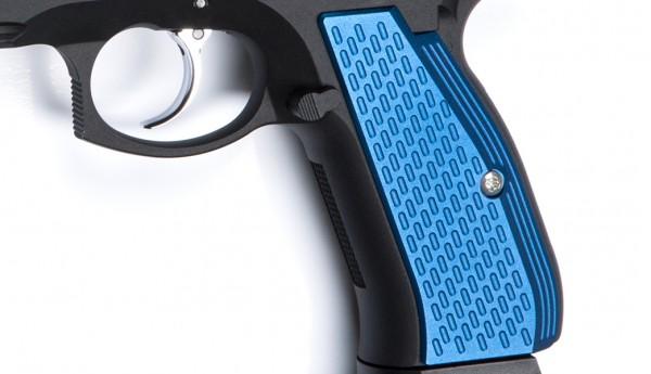 ASG CZ SP-01 Shadow Aluminium Grip Shells - Blue