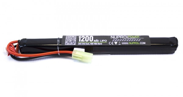 NP Power 7.4v 1200mAh 20C Lipo Stick Slim Type