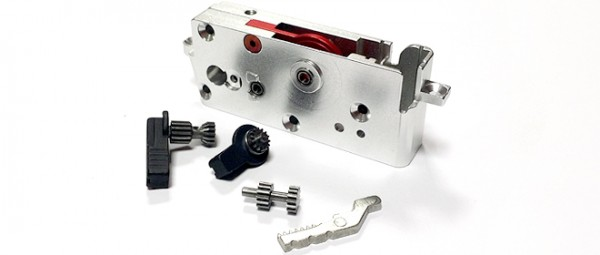 Celcius Reformation II gearbox with ambidextrous selector