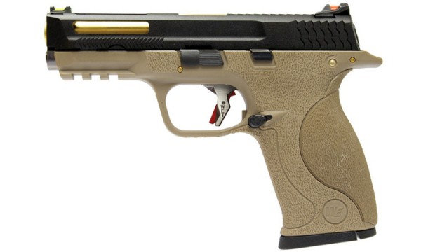 WE N&P XW40 E-Force Vented (FDE) Black Slide / Gold Barrel