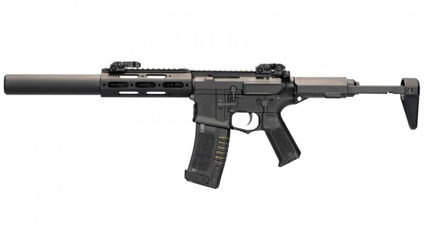 Ares Amoeba Honey Badger with Extended Silencer (Black)