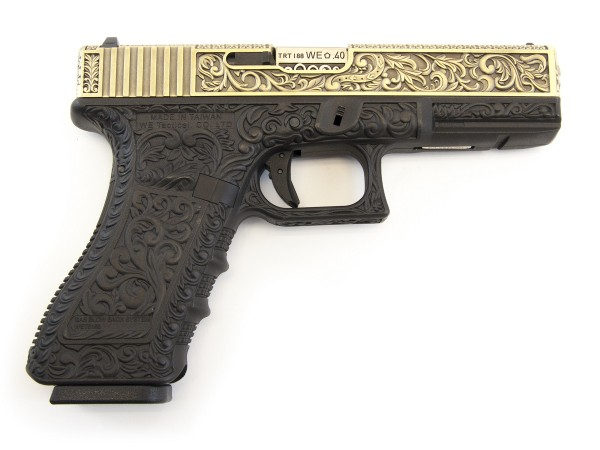 WE EU Glock 17 Gen3 Etched Ivory Special Edition