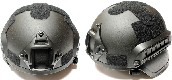 Nuprol MICH Railed Helmet - Black
