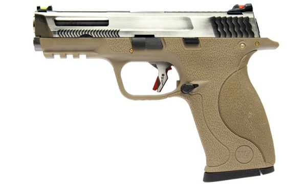 WE N&P XW40 E-Force Vented (FDE) Silver Slide / Silver Barrel