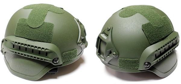 Nuprol MICH Railed Helmet - OD
