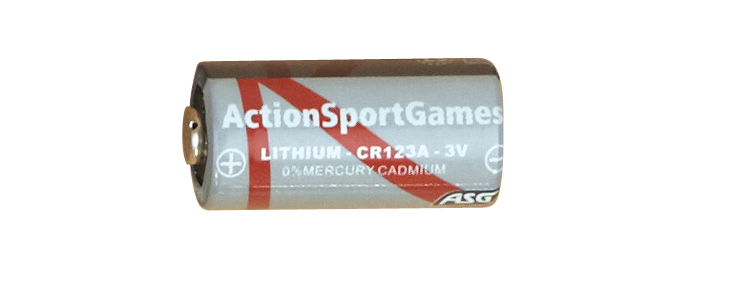 ASG CR123A 3v Lithium Battery