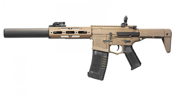 Ares Amoeba Honey Badger with Extended Silencer (Tan)
