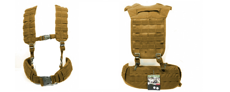 Defcon5 Belt Suspender Harness Tan