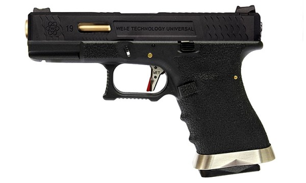 WE E-Force EU G19 Black (Black Slide / Gold Barrel)