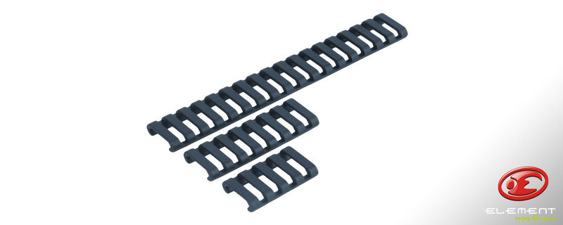 Element 18 Slot Rail LowPro Rail Covers (Black)