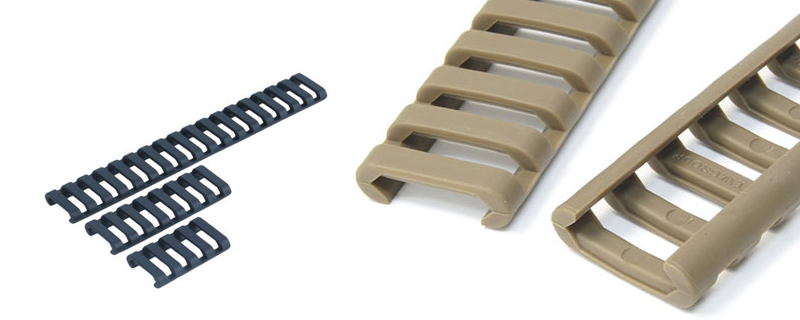 Element 18 Slot Rail LowPro Rail Covers (Tan)