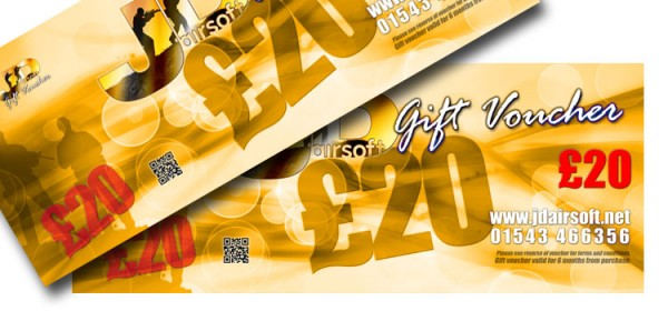 JD Airsoft Gift Voucher £20