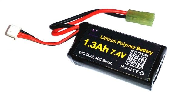 SP 7.4v 1300mAh Lipo Battery for PEQ Box