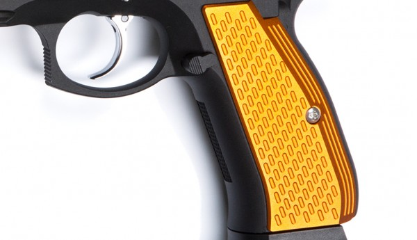 ASG CZ SP-01 Shadow Aluminium Grip Shells - Orange