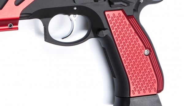 ASG CZ SP-01 Shadow Aluminium Grip Shells - Red