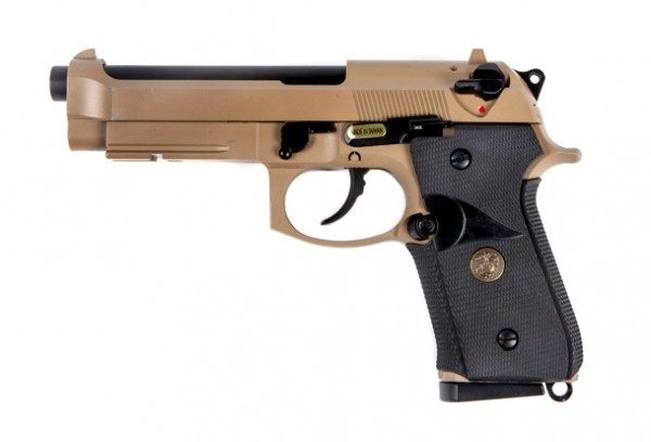 WE M9A1 Beretta Marine CO2 Tan