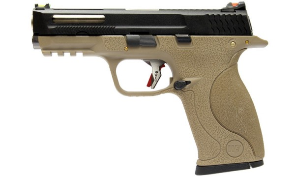 WE N&P XW40 E-Force Vented (FDE) Black Slide / Silver Barrel