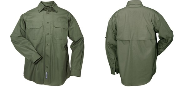 5.11 Tactical Cotton L/S Tactical Shirt OD Green