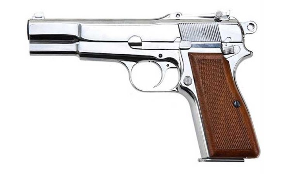 WE Browning Hi-Power Silver