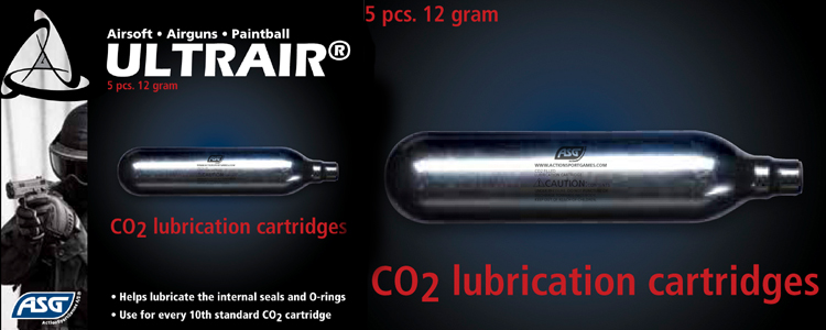 ASG CO2 Lubrication Cartridges (5pcs)