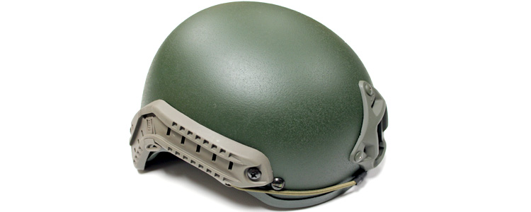 A.S.I. Tactical Helmet w/ NVG mount and Side Rail O