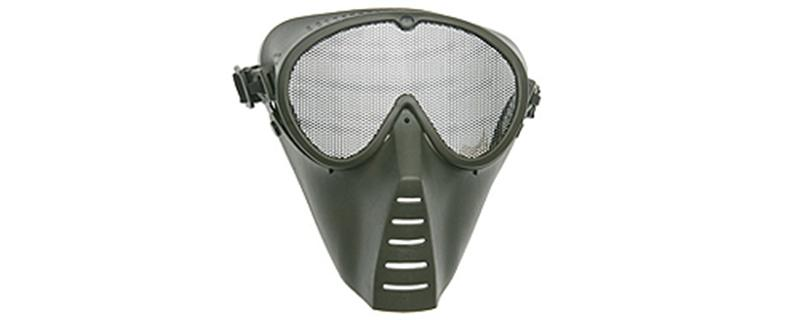 Strike Systems Green Medium Grid Mask in Olive Drab