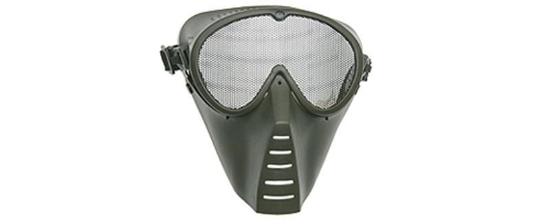 Strike Systems Green Medium Grid Mask in Olive Drab