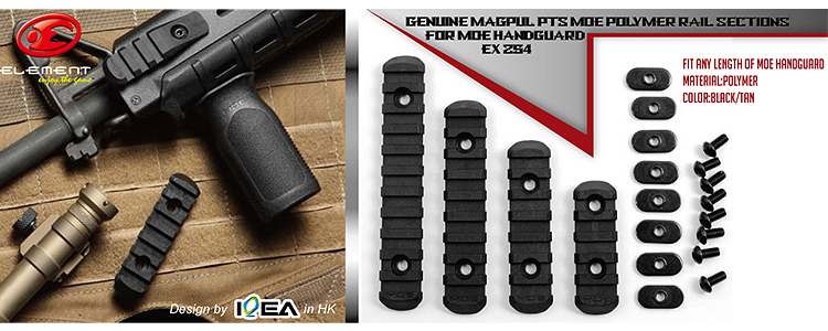 Element MOE Polymer RIS Rail Set