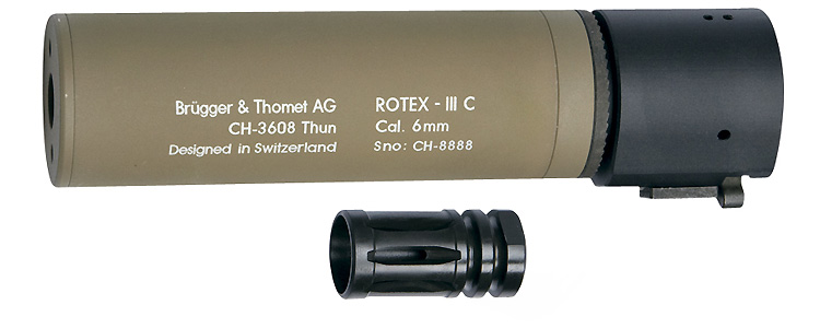 BT Rotex III C Silencer for M4/M15 - Tan