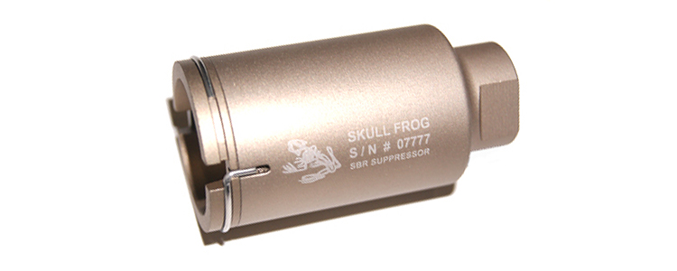 Element NOV Mini Skull Frog Silencer Tan