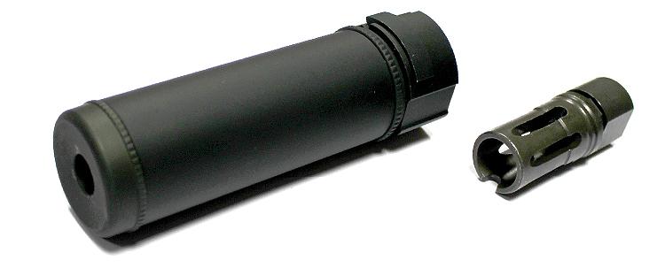 SF 6inch Quick Detach Silencer Black inc flashhider CCW