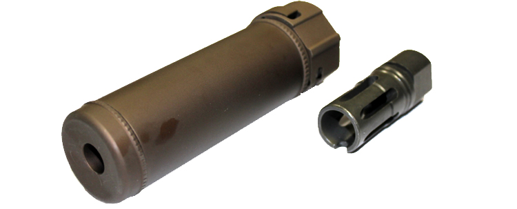 SF 6inch Quick Detach Silencer Bronze inc flashhider CCW